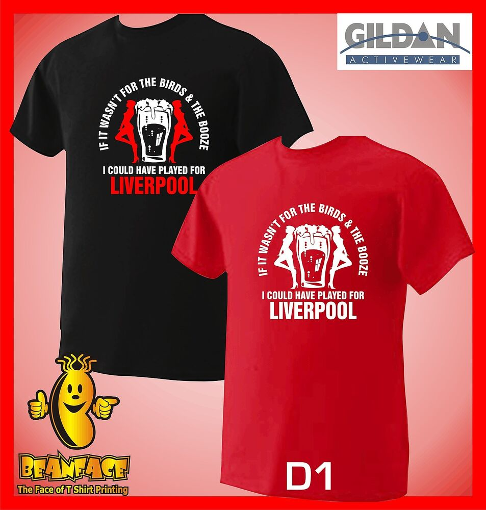 Liverpool T Shirt Birds The Booze Sports Fc Funny Mens Small To Xl