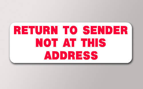 how to write return to sender