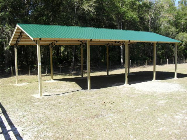 Steel roof truss for 42 39 for hay barns horse stalls for Hay pole barns