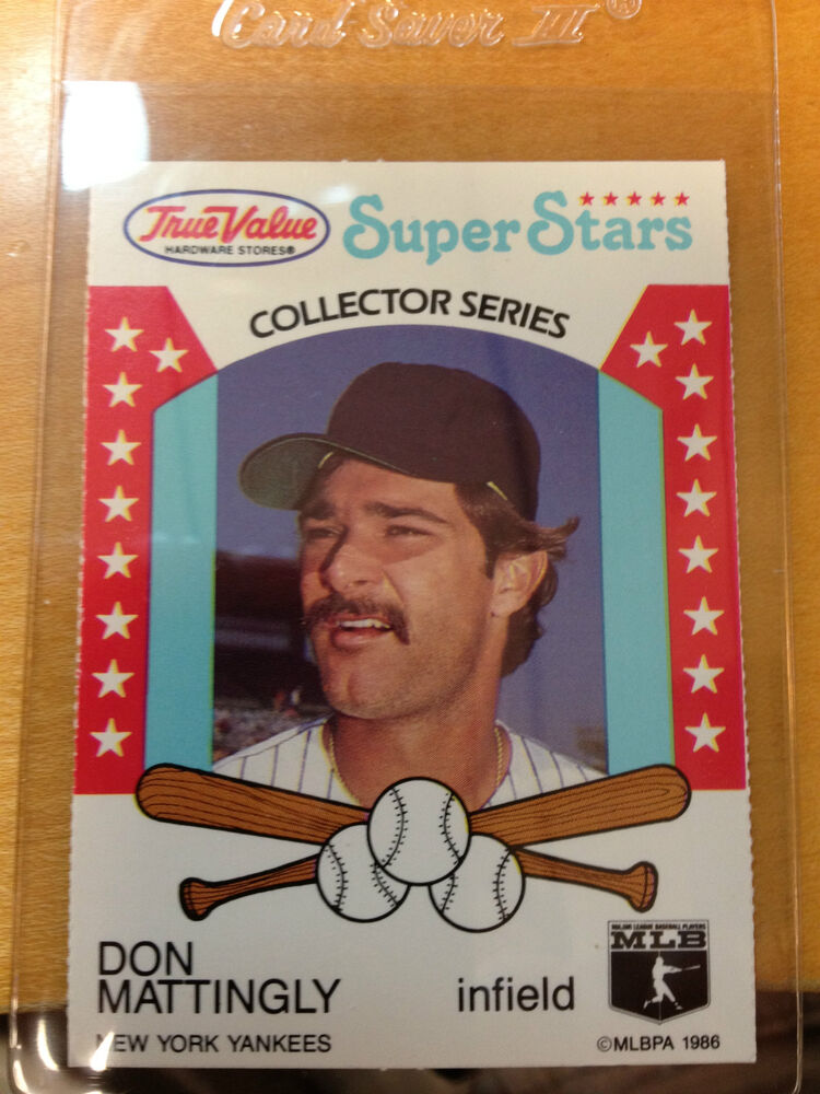 1986 True Value Super Stars Collectors Don Mattingly Card