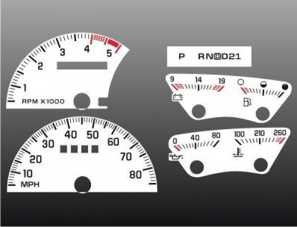 1992 1994 Chevrolet Truck Tach Dash Cluster White Face