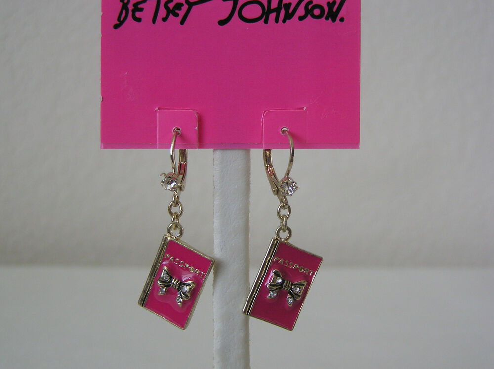 betsey johnson collection pink passport drop