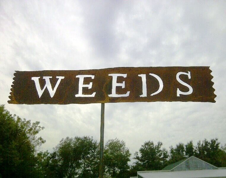 Weeds tin sign for your home or garden decor metal yard for Outdoor decorative signs