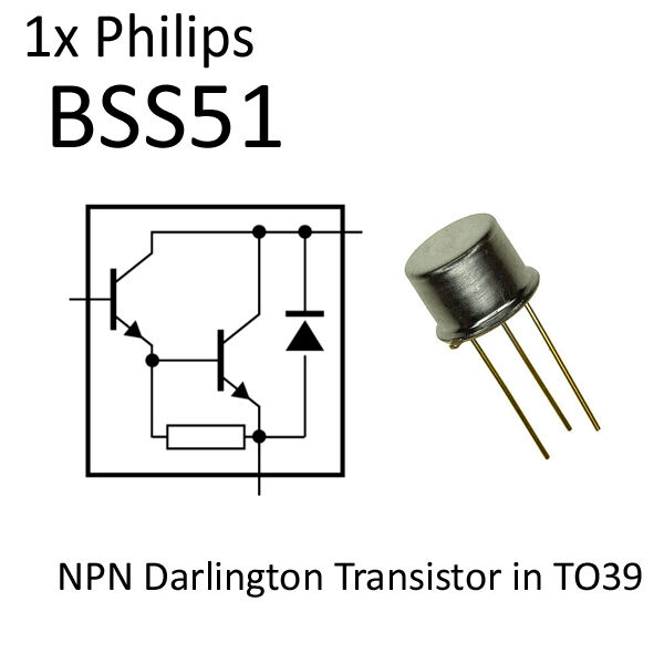 1x bss51 npn darlington transistor to