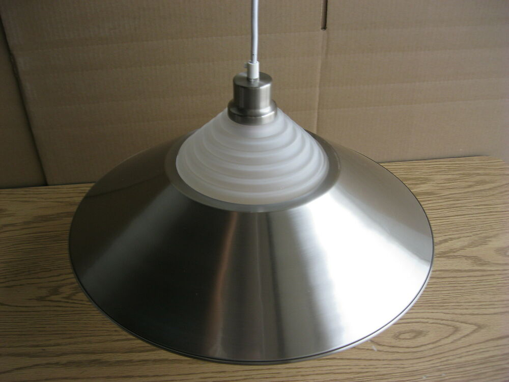 Over Table Pendant Light Pool Counter Round Dome Satin Nickel BN 9F NK 15 Quo