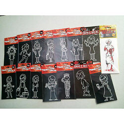 Choice of MOM Family Car / Window / Locker Cling Decals Military Zombie Shopping