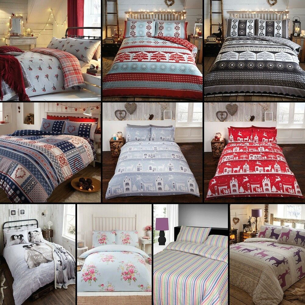 Thermal 100 Brushed Cotton Flannelette Quilt Duvet Cover