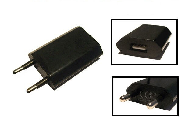 1000mah schwarz universal usb netzteil ladeger t reiselader lade adapter 230v ebay. Black Bedroom Furniture Sets. Home Design Ideas