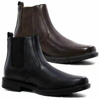 MENS BIKER BOOTS MENS CHELSEA BOYS DEALER ANKLE RIDING WESTERN SCHOOL SHOES SIZE