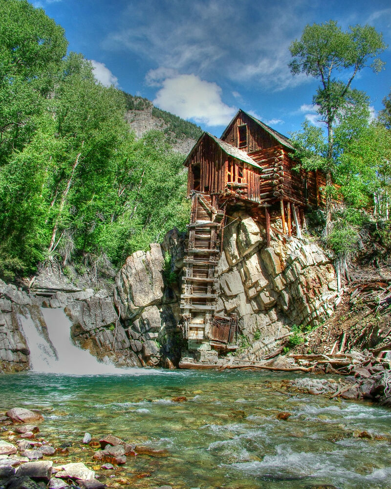 crystal mill crystal colorado 11x14 photograph print ghost town