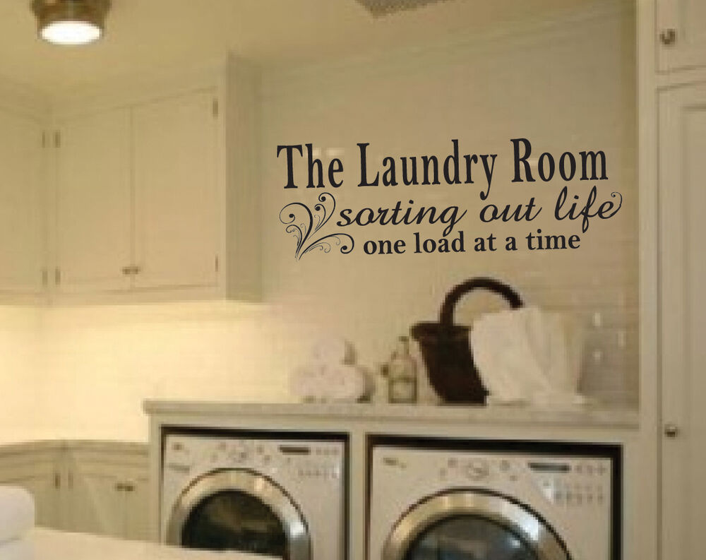 Laundry Room Wall Decor Stickers : Laundry room vinyl wall decal sticker