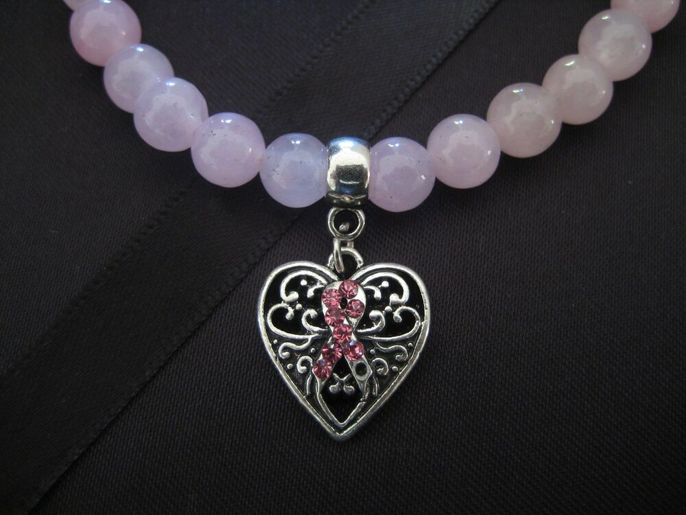 PICK YOUR BEAD ~ Pink Ribbon Love Heart Breast Cancer ...