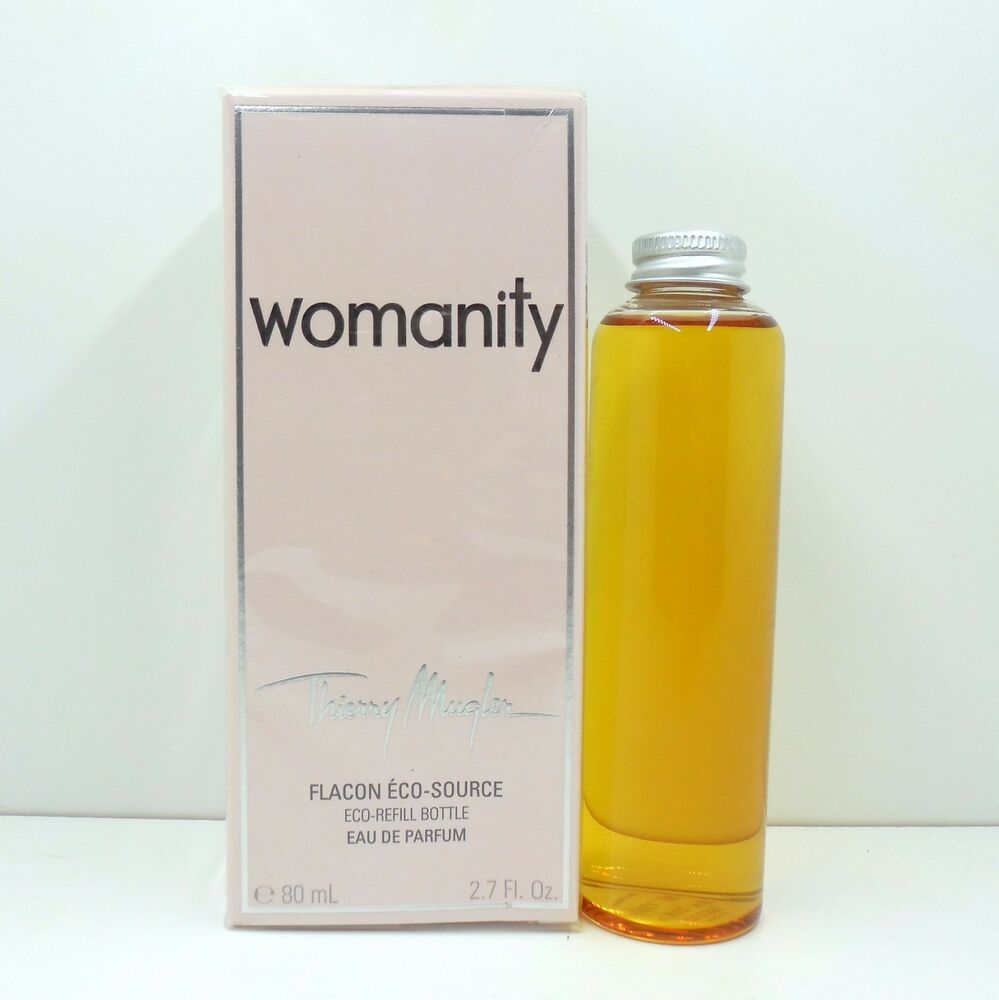 thierry mugler womanity eau de parfum eco refill bottle 80 ml 2 7 oz nib ebay. Black Bedroom Furniture Sets. Home Design Ideas
