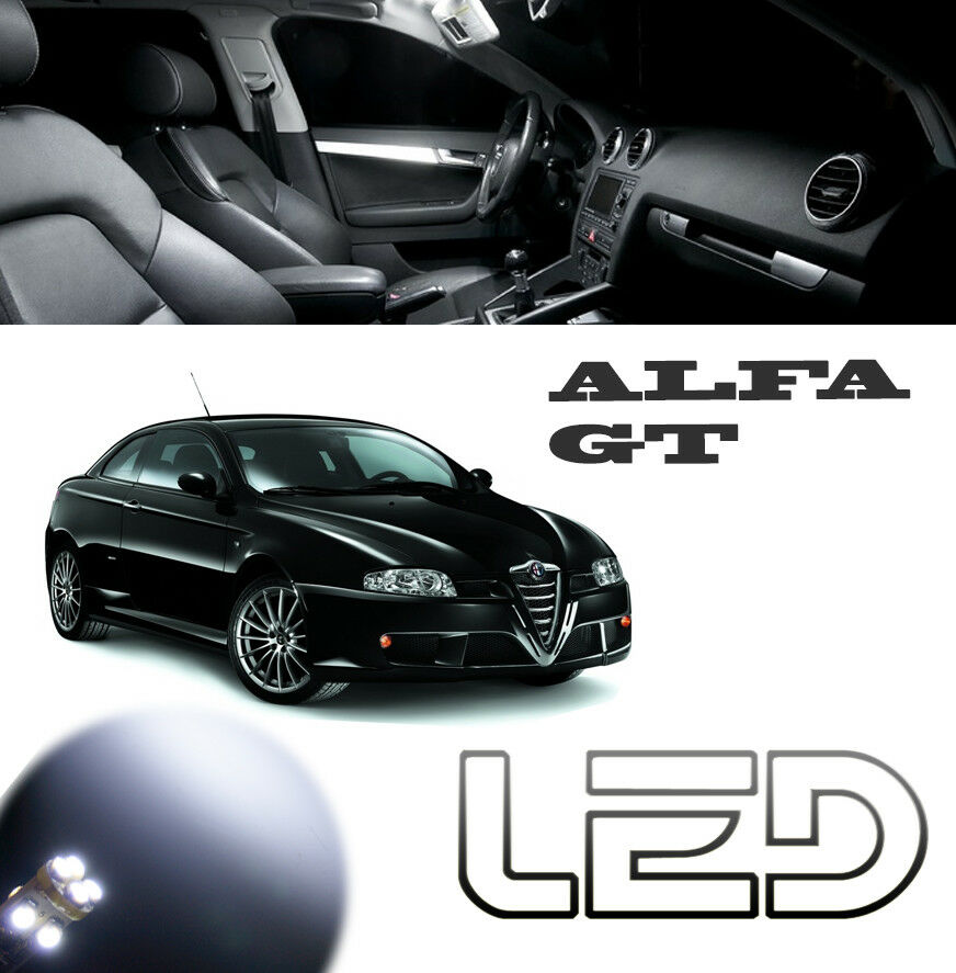 alfa romeo gt kit 11 ampoules led blanc plaque veilleuses habitacle plafonnier ebay. Black Bedroom Furniture Sets. Home Design Ideas