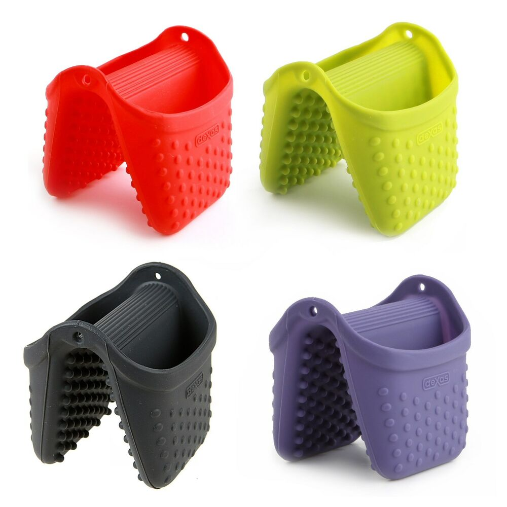 "Silicone Pot Holders: Dexas Silicone 3"" Mini Pinch Oven Mitt / Pot Holder"