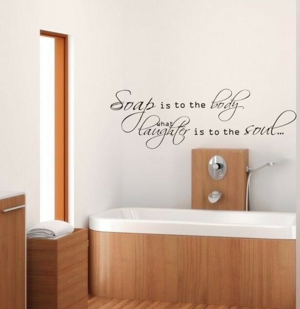 TOILET BATHROOM HOME WALL QUOTE VINYL DECOR STICKER LARGE ...