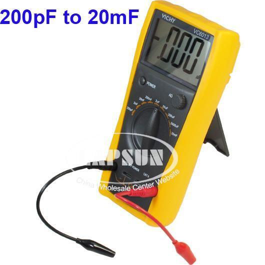 Check Ac Capacitor With Multimeter : Lcd capacitor capacitance meter tester digital multimeter