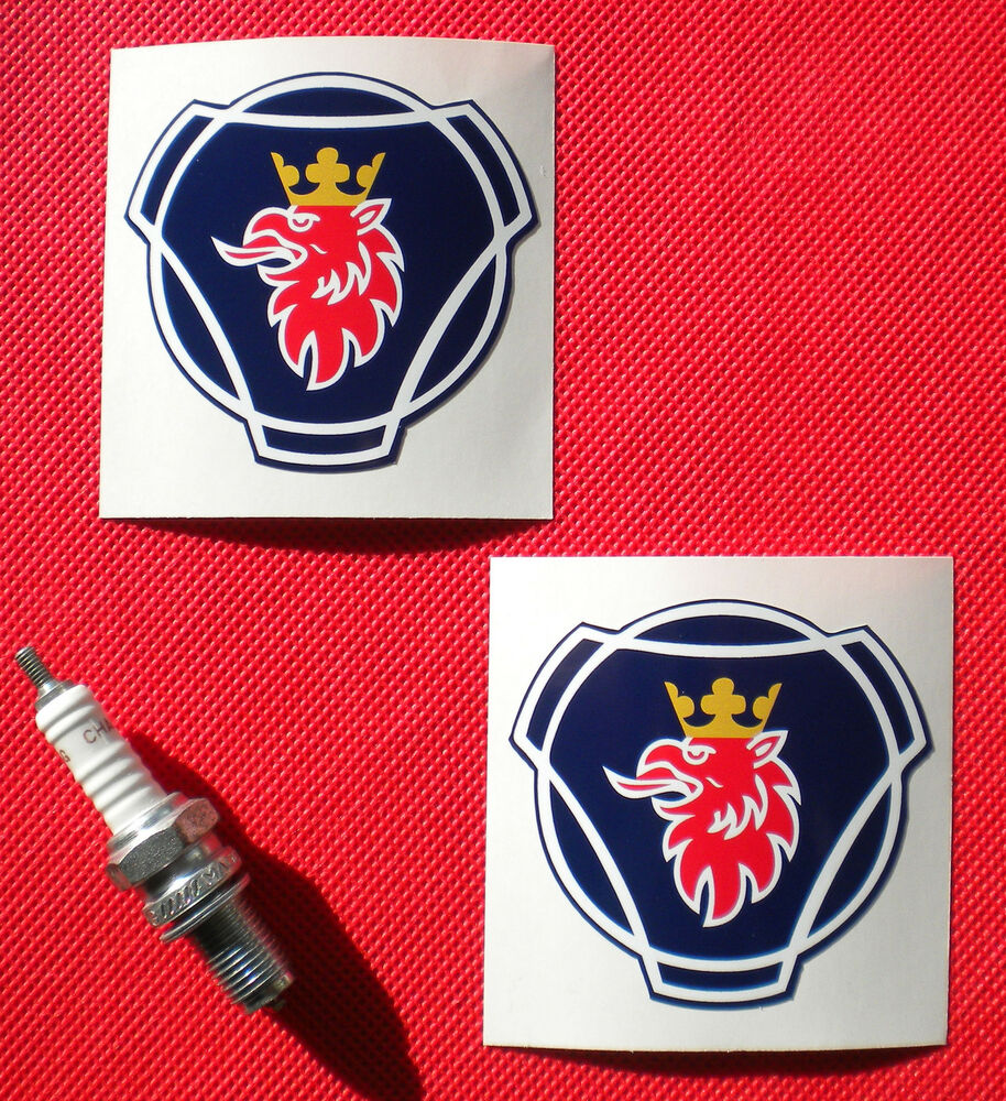 Pair Of Scania Griffin Logo Stickers 68mm Ebay