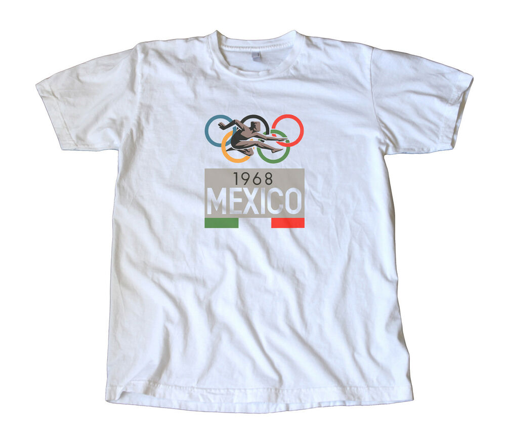 Vintage 1968 Mexico Olympics Decal T-Shirt