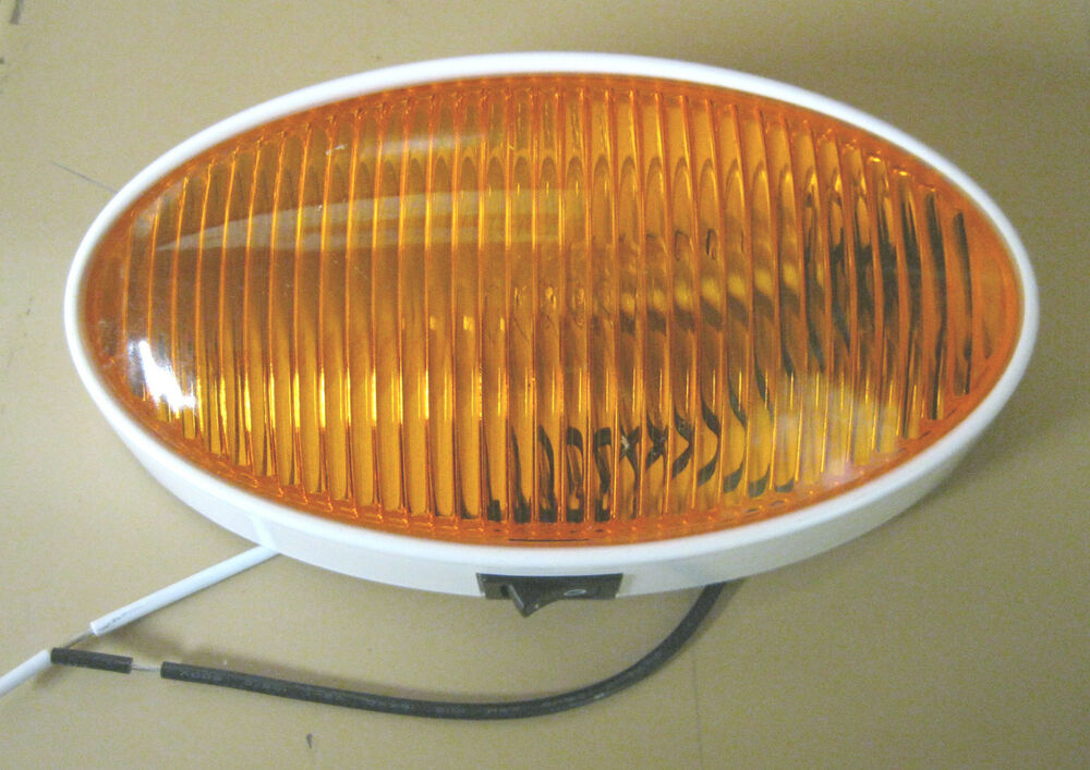 Rv Oval Light With Switch And Amber Lens Ebay