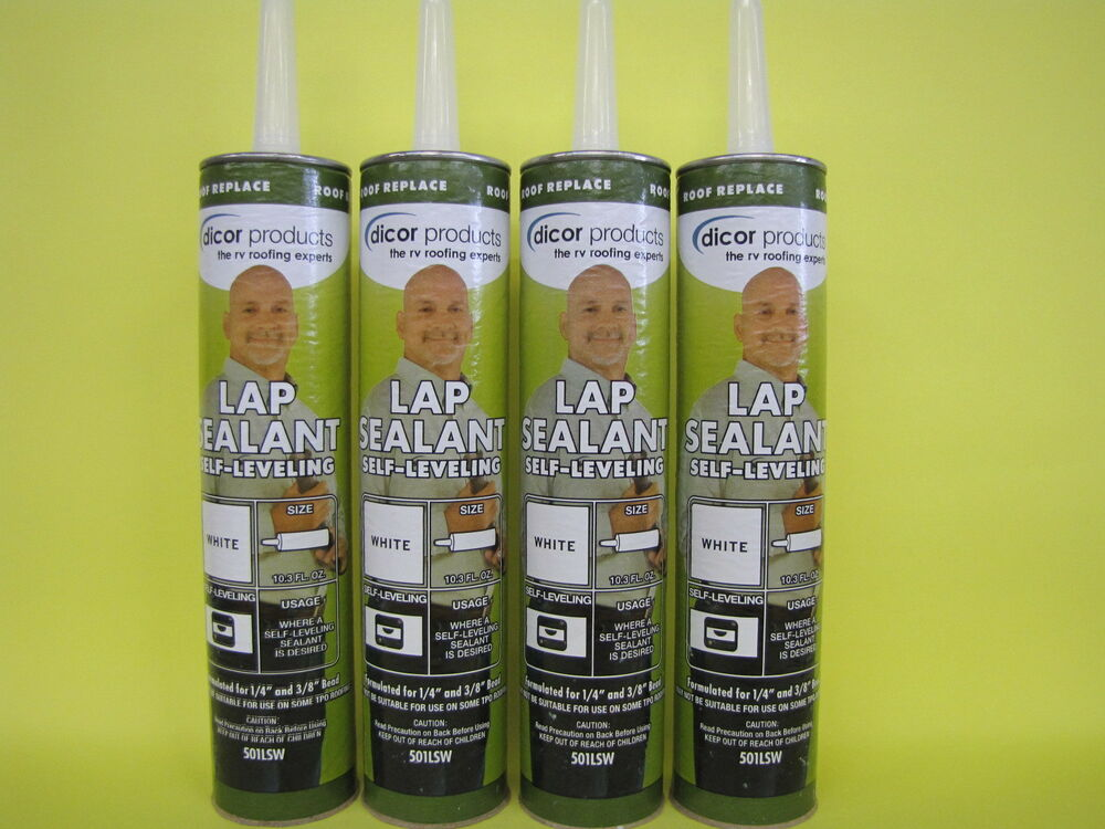 4 Pack Of Lap Sealant White Dicor Rv Camper Rubber Roof