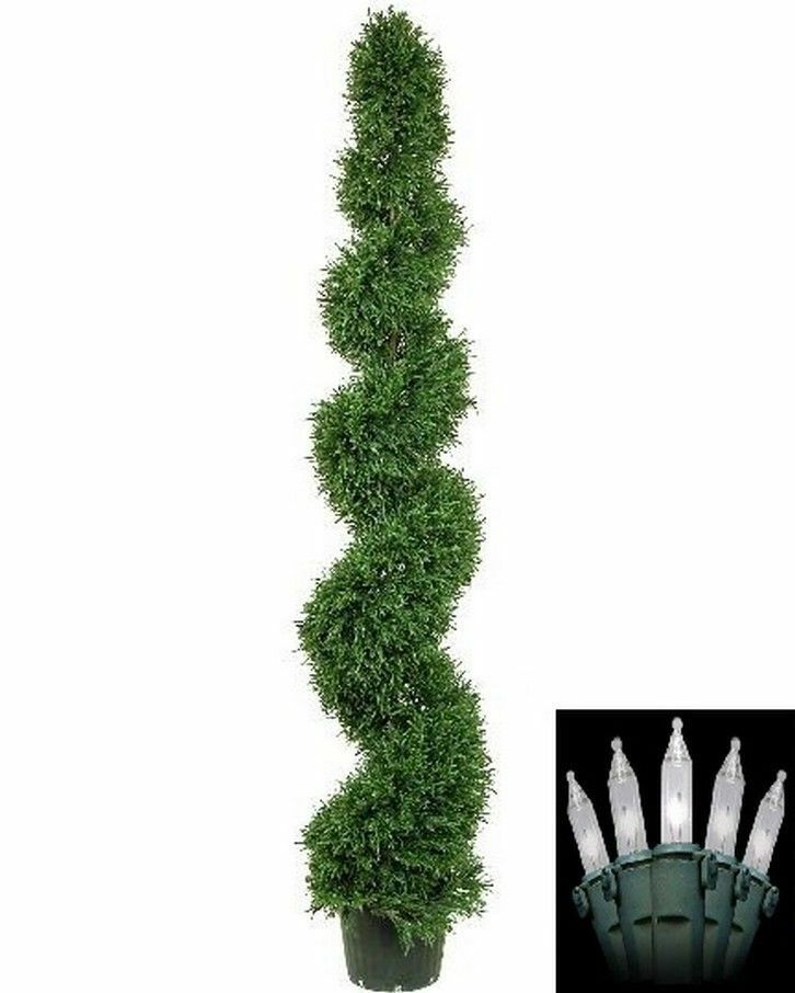 6 Artificial Rosemary Spiral Topiary Christmas Tree In
