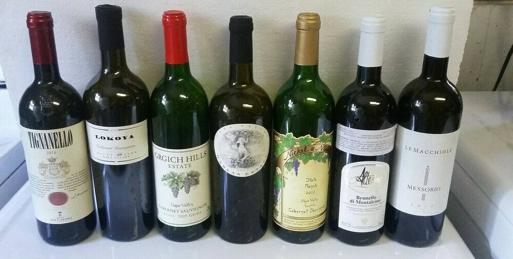 Empty wine bottles for display only 12 bottles ebay for What to make with empty wine bottles