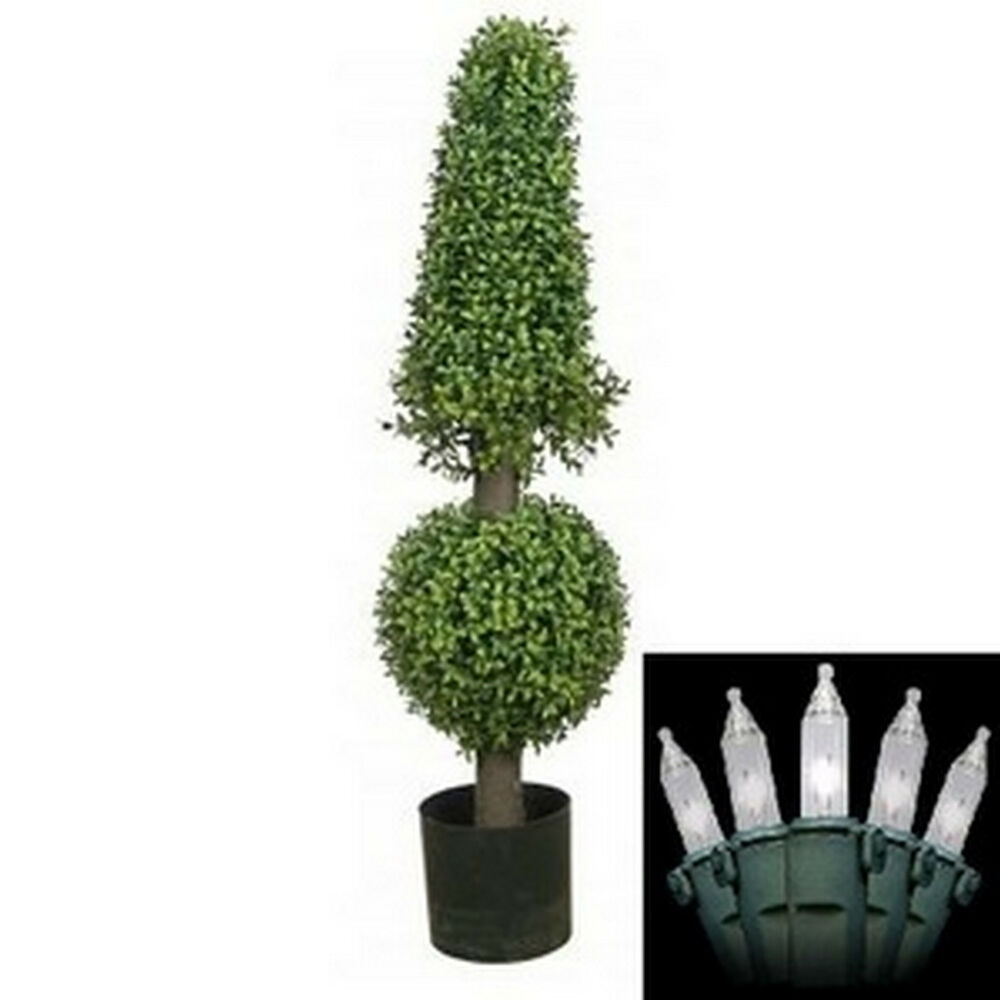 38 inch artificial boxwood cone ball topiary tree potted. Black Bedroom Furniture Sets. Home Design Ideas