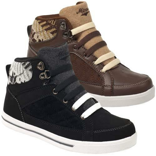 Ladies Ankle Boots Womens Hi Tops Winter Casual Lace Up ...