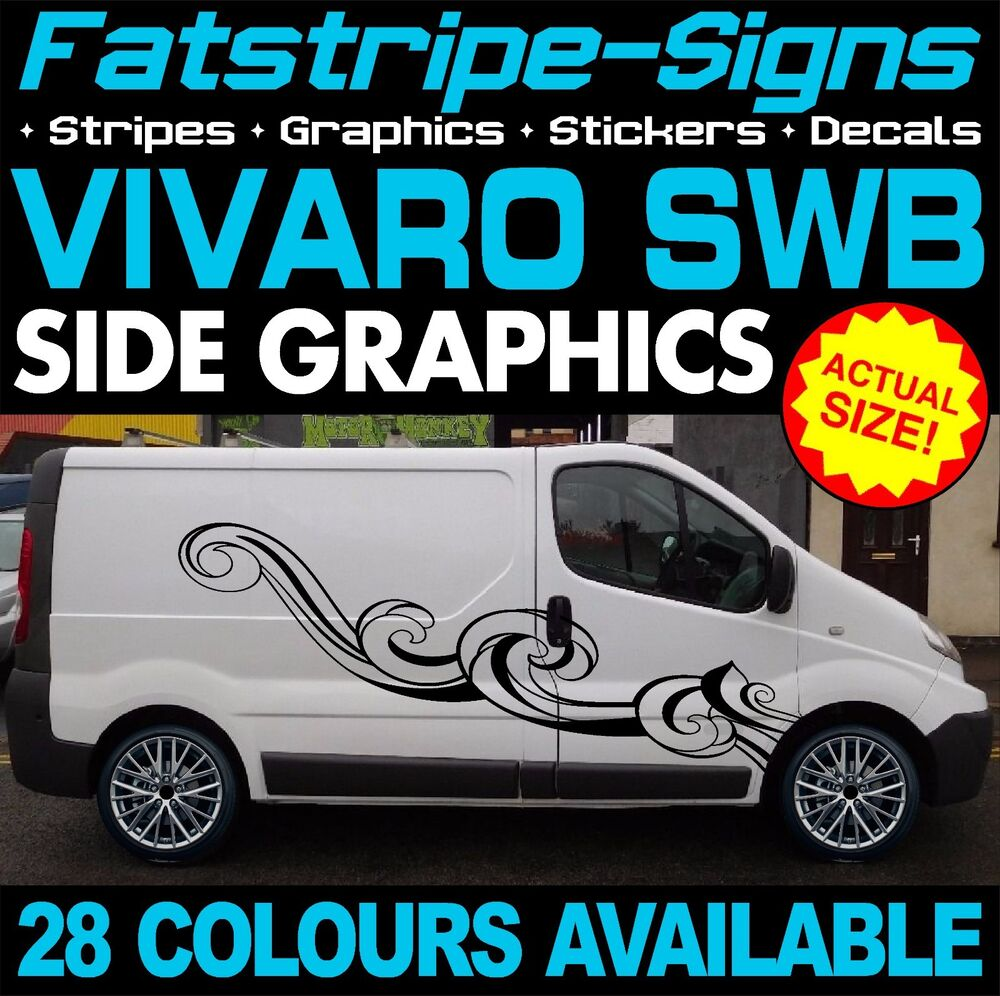 Vauxhall Vivaro Swb Graphics Stickers Stripes Camper Van
