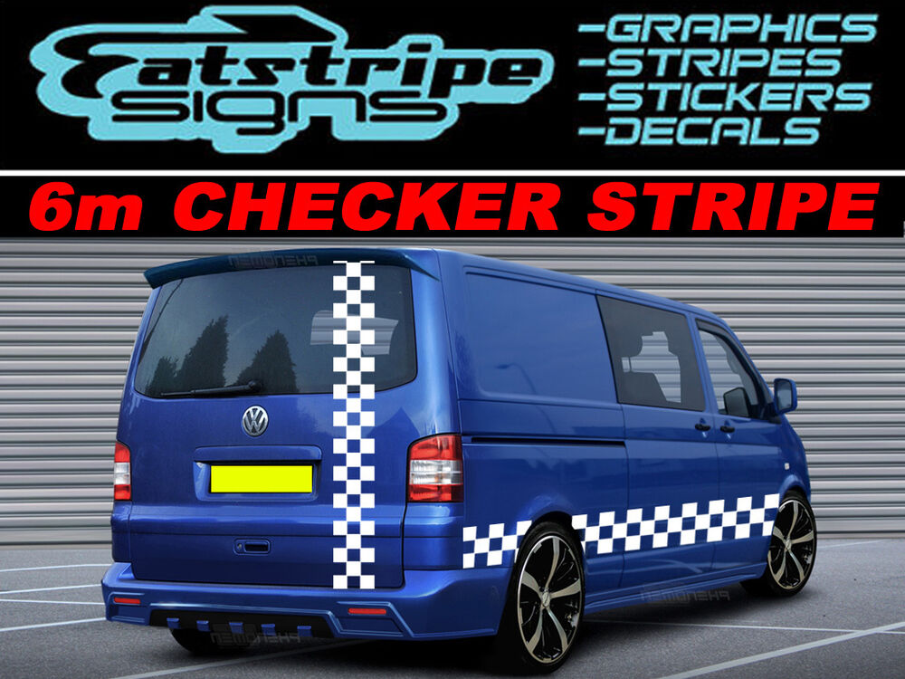 6m checker vw transporter t4 t5 caddy surf van graphics. Black Bedroom Furniture Sets. Home Design Ideas