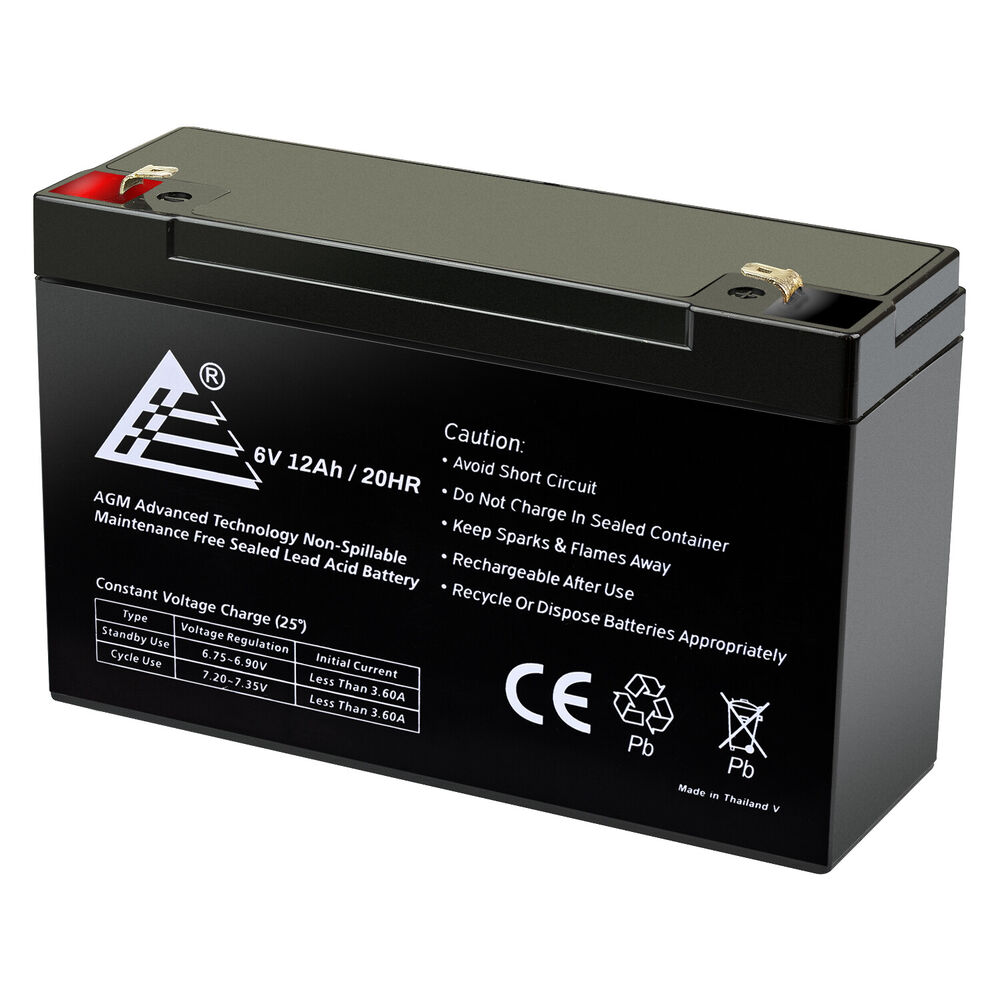 new 12ah 6v volt 12 amp hour sealed lead acid battery rbc52 tripplite ebay. Black Bedroom Furniture Sets. Home Design Ideas