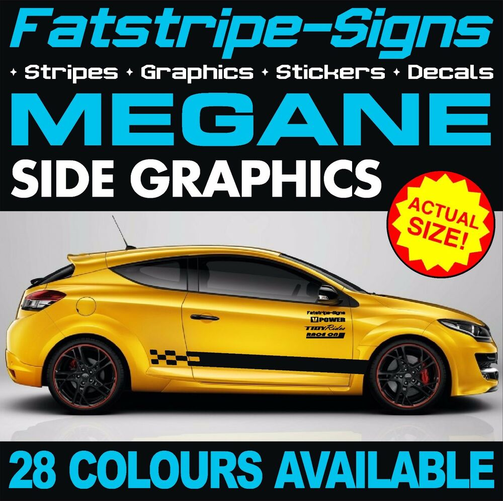 renault megane car vinyl graphics stickers stripes decals sport f1 2 0 ebay. Black Bedroom Furniture Sets. Home Design Ideas