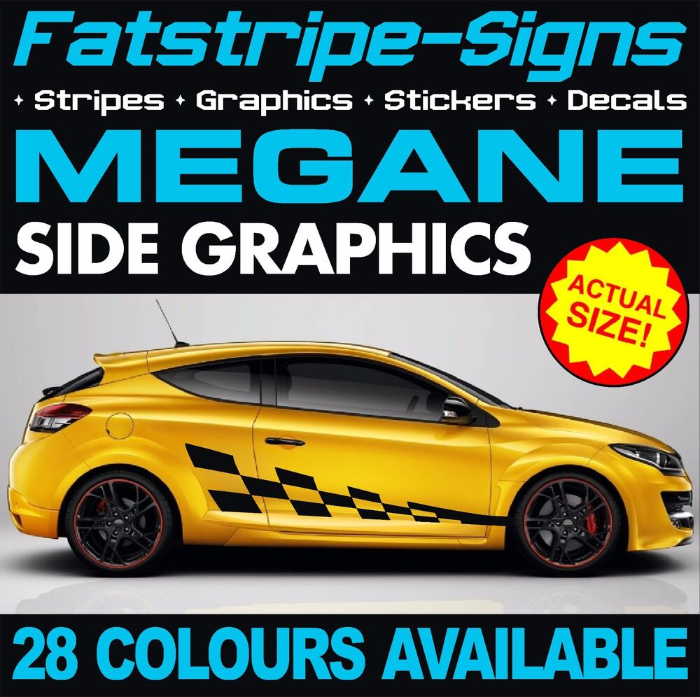 renault megane graphics stripes stickers decals 2 0 turbo sport rs 250 265 275 d ebay. Black Bedroom Furniture Sets. Home Design Ideas