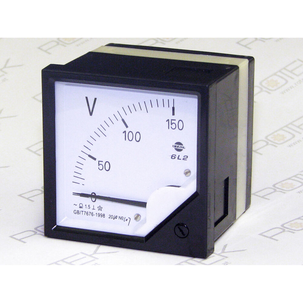 150v 110v voltmeter einbauger t frontplatte 80x80mm spannung messen volt meter ebay. Black Bedroom Furniture Sets. Home Design Ideas