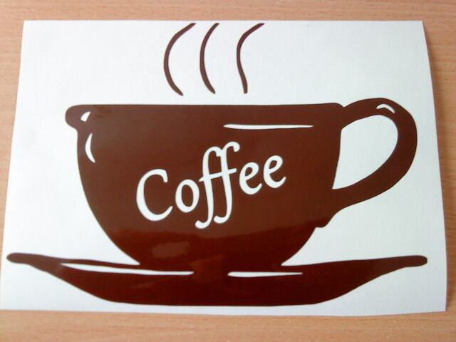 Large Coffee Bar Shop Window Signs Doors Vinyl Decal Wall