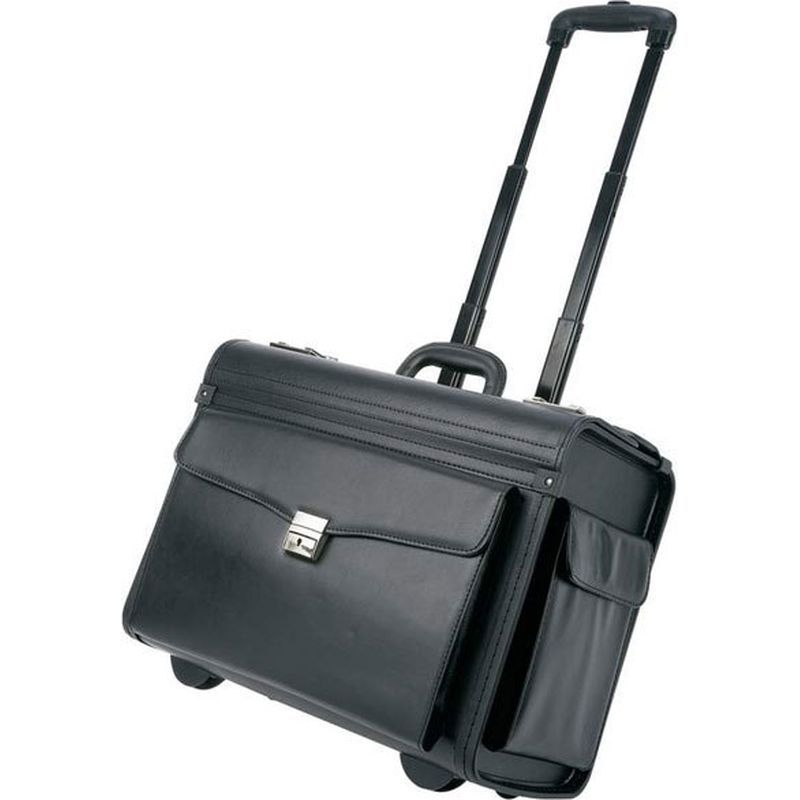 Matte Black Carry On Rolling Pilot Case Business Trolley