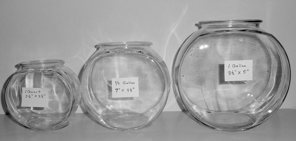 anchor hocking 1 gal drum clear glass fish bowl s as