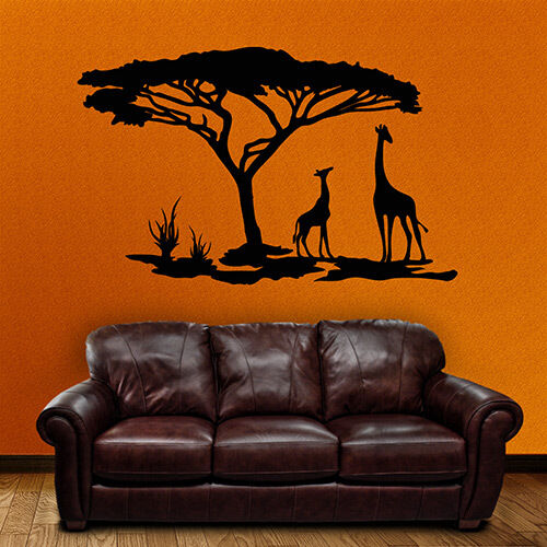 wandtattoo afrika savanne giraffen tiere w ste. Black Bedroom Furniture Sets. Home Design Ideas
