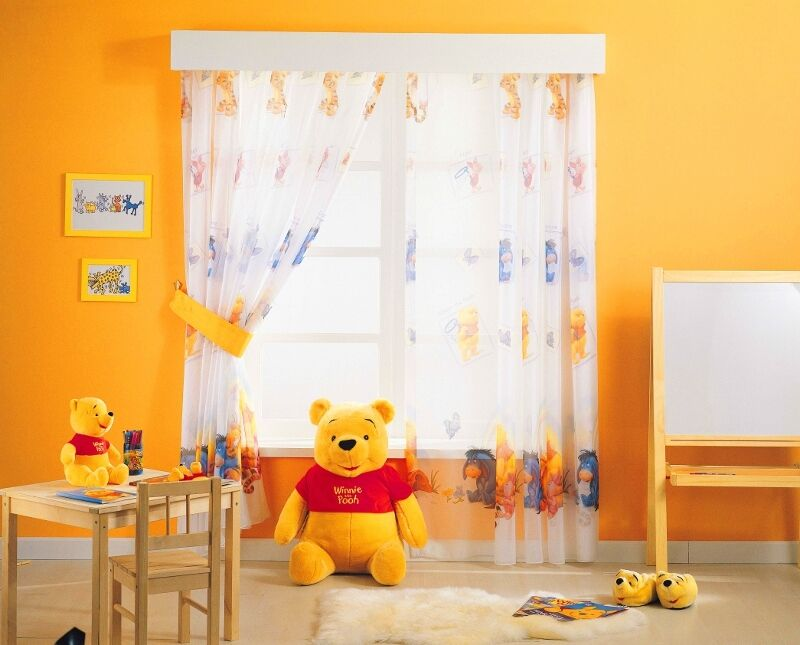 kinderzimmer gardine disney winnie pooh puuh alle ma e. Black Bedroom Furniture Sets. Home Design Ideas