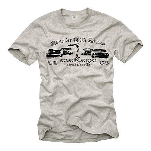 Vintage Quarter Mile T Shirt Mustang Mc Queen Race Hot Rod