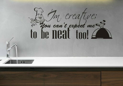 Kitchen funny home wall quote vinyl art decor sticker for Funny home decor