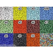 Opaque Glass Seed Beads - Round Hole Rocailles - Choose Color & Size