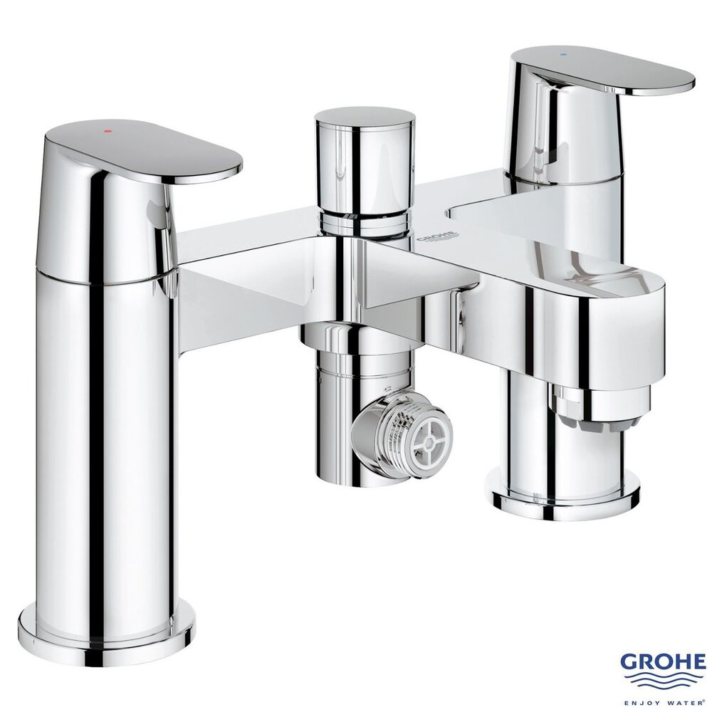 grohe 25129 eurosmart cosmo bath shower mixer lever handles chrome 25129000 ebay. Black Bedroom Furniture Sets. Home Design Ideas