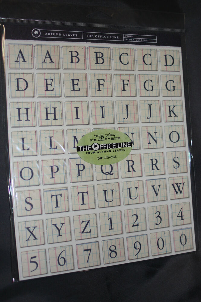 alphabet letters scrapbooking punch out chipboard pogs 850 With punch out letters for scrapbooking