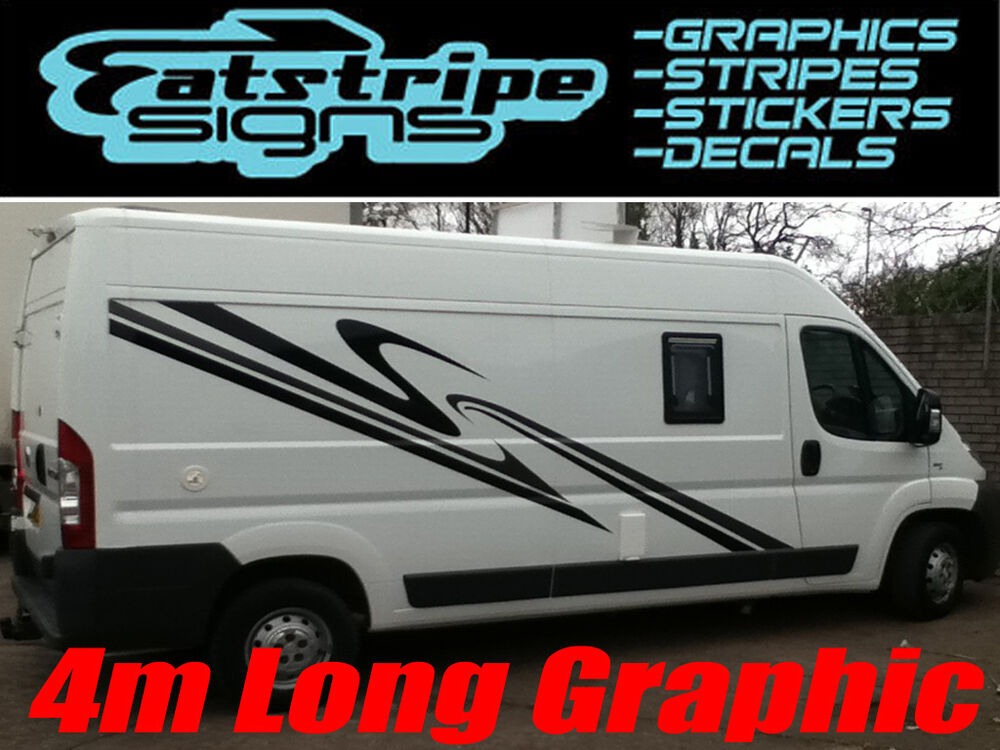 4m camper van motorhome caravan graphics stickers stripes for Decals for rv mural