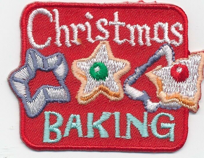 boy girl cub christmas baking cookies fun patches crests