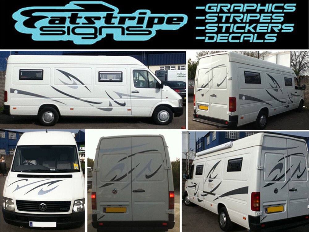 Motorhome graphics murals fantastic white motorhome for Decals for rv mural