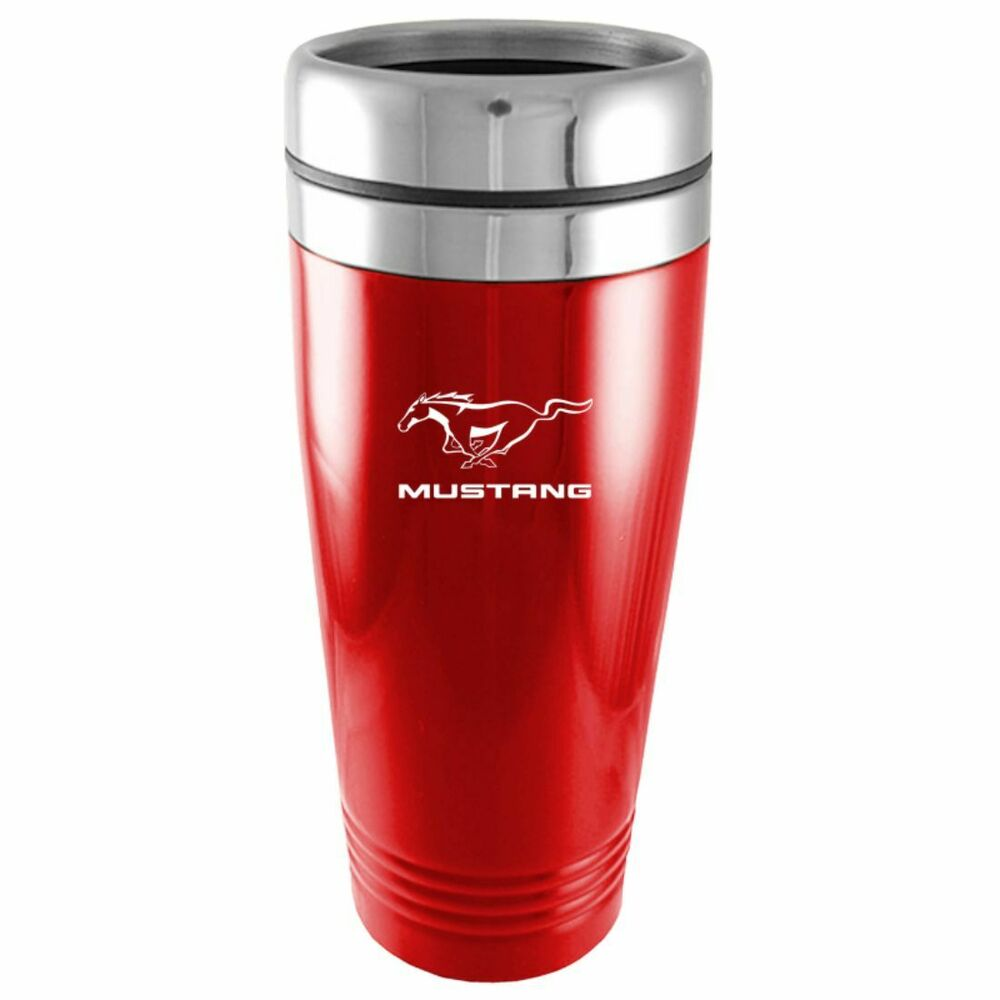 Red Ford Mustang Logo Insulated Double Wall Stainless