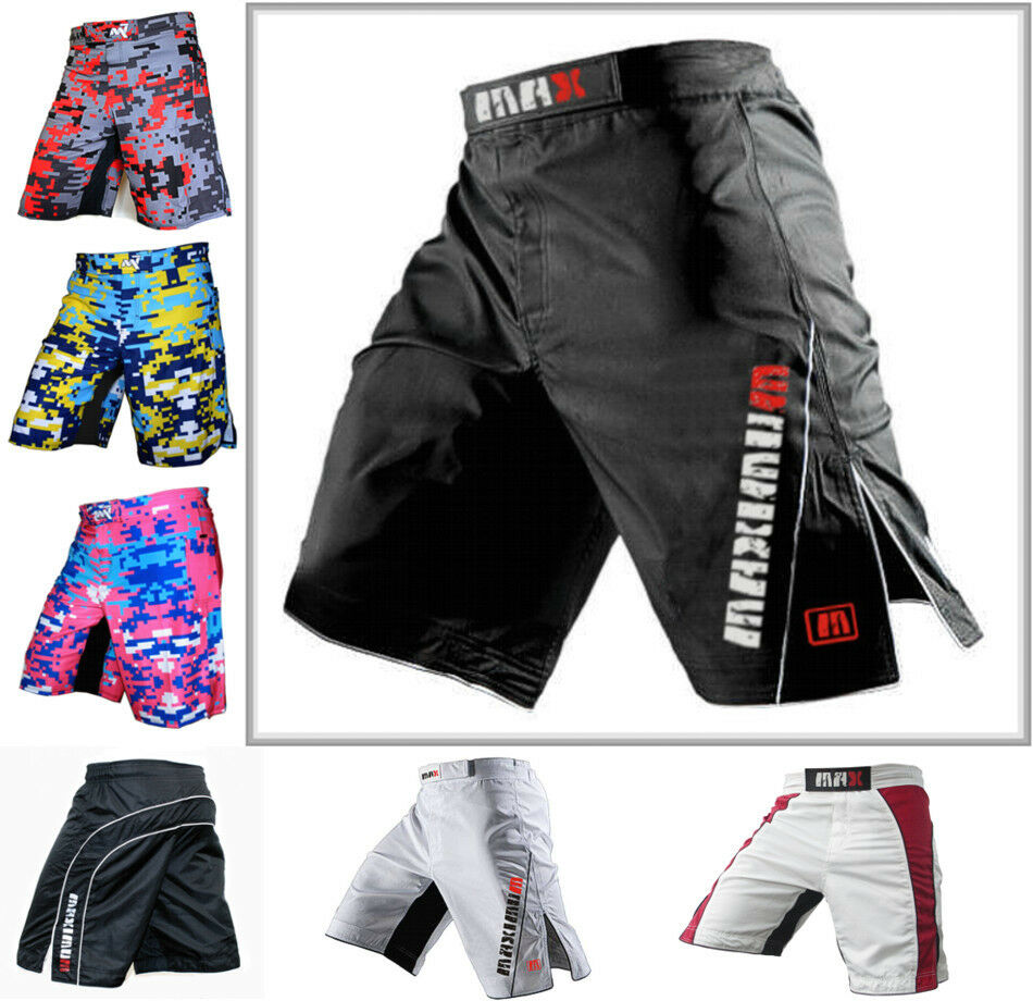 Mma: MMA Fight Shorts Grappling Short Kick Boxing Cage Fighting